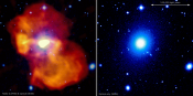 Supermassive Black Hole Inflates Giant Bubble