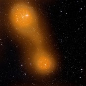 Bridge of Hot Gas Links Two Galaxy Clusters