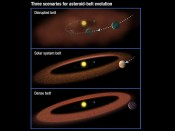 Asteroid Belts at the Right Place Needed for Complex Life?