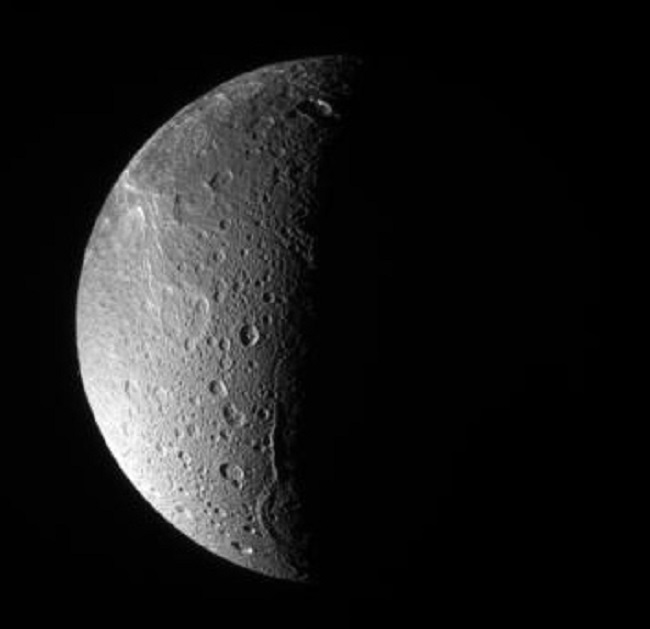 Dione (North Polar View)