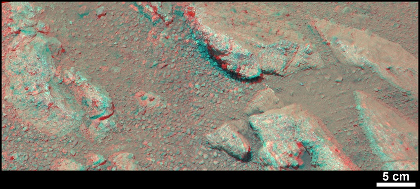 Evidence About a Martian Streambed (Stereo) 1