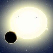 First Exoplanet Found by Using New Method