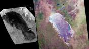 Cassini Finds Titan Lake is like a Namibia Mudflat