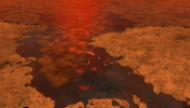 Ice on Lakes and Seas at Saturn's Moon Titan