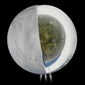 Large Ocean Inside Saturn's Moon Enceladus