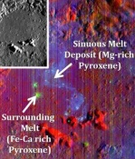 Lunar Crater Contains Traces of Before it was Formed