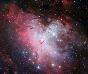"""Old Young"" Stars in the Eagle Nebula"